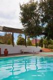 Zwembadterras stock fotografie