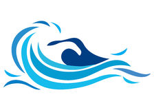 Zwemmend embleem Stock Foto's