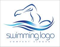 Zwemmend Embleem Stock Afbeelding