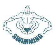 Zwemmend etiket vector illustratie