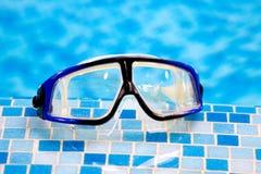 Zwemmend het duiken masker Stock Foto