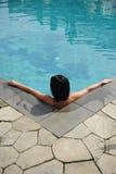 Zwemmend meisje Royalty-vrije Stock Foto's