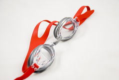 Zwemmende beschermende brillen Royalty-vrije Stock Foto's