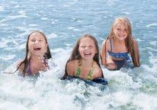 zwemmende kinderen Royalty-vrije Stock Afbeeldingen