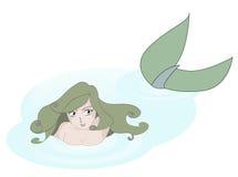 Zwemmende meermin Stock Foto's