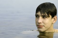 Zwemmende tiener Royalty-vrije Stock Afbeelding