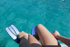 Zwemmende vinnen stock afbeelding