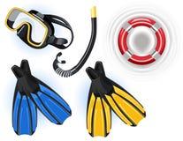Zwemmende voorwerpen stock illustratie