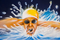 Zwemmer Stock Fotografie