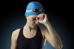 Zwemmer 6 Stock Foto