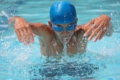 Zwemmer in actie royalty-vrije stock foto