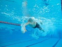 Zwemmer in comptition Royalty-vrije Stock Afbeeldingen