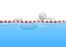 Zwemmer in de pool - Sporten Stock Foto