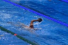 Zwemmer opleiding stock foto