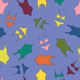 Zwempakken uit één stuk, bikinis Vector helder gekleurd naadloos patroon stock illustratie