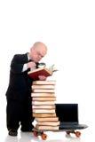 Zwergartiges Surfen der Internet-Bibliothek Lizenzfreies Stockbild