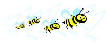 Zwerm van bijen Royalty-vrije Stock Foto's
