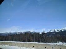 Zwervend rond Banff, Alberta, Calgary in de winter royalty-vrije stock afbeeldingen