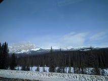 Zwervend rond Banff, Alberta, Calgary in de winter stock afbeeldingen
