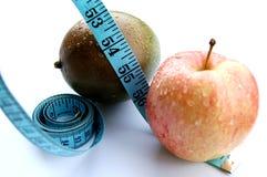 Zwetende Appel en Mango (het Op dieet zijn) stock foto's