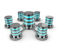 Związane 3d bazy danych odizolowywać na białym tle Obrazy Stock