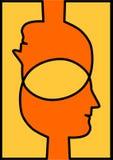 Związane głowy dzieli pomysły ilustracji