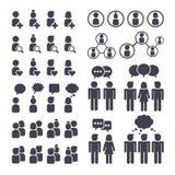 Związani ludzie i ogólnospołeczne sieci ikony ilustracji