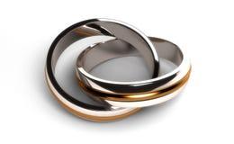 Związani pierścionki Fotografia Royalty Free