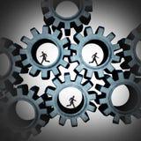 Związani prac zespołowych ludzie ilustracja wektor
