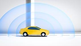 Związany automobilowy samochód ilustracja wektor