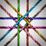 Związany Centralizujący networking ilustracji
