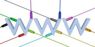 Związany WWW ilustracja wektor