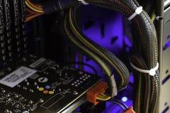 Szczegół nowożytni Komputerowi kabli związki Obraz Stock