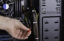 Szczegół nowożytni Komputerowi kabli związki Obrazy Stock