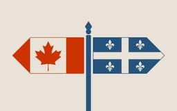 Związki między Kanada i Quebec ilustracji