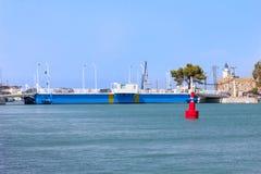 Związku most między Lefkada wyspą i stałym lądem Fotografia Royalty Free