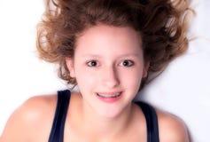 związuje dziewczyny szczęśliwej Fotografia Royalty Free
