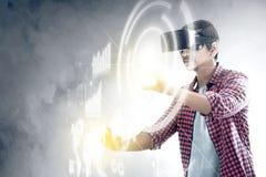 Zwiększająca rzeczywistości technologia zdjęcia royalty free