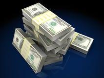 zwiększenie dochodów wykazując sterta pieniędzy Zdjęcia Royalty Free