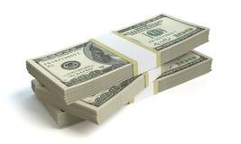 zwiększenie dochodów wykazując sterta pieniędzy