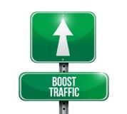 zwiększenie ruchu drogowego drogowego znaka ilustracyjny projekt ilustracja wektor