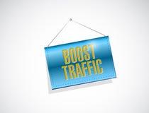 zwiększenie ruchu drogowego wiszącego sztandaru ilustracyjny projekt zdjęcie stock
