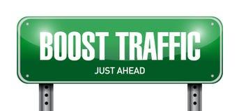zwiększenie ruchu drogowego drogowego znaka ilustracyjny projekt Fotografia Royalty Free