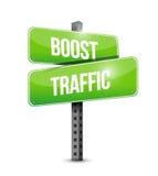 zwiększenie ruchu drogowego drogowego znaka ilustracyjny projekt Zdjęcie Royalty Free