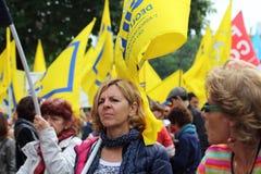 Związku zawodowego demostration Obrazy Royalty Free
