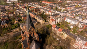 Zwickau aerial view old town germany Stock Photography