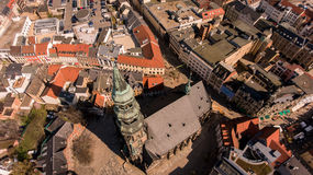 Zwickau aerial view old town germany Royalty Free Stock Image