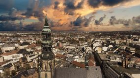Zwickau aerial view old town germany Royalty Free Stock Photo