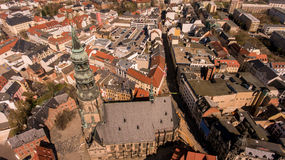 Zwickau aerial view old town germany Royalty Free Stock Images