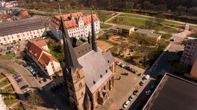 Zwickau aerial view old town germany Stock Photo